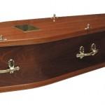 Mahogany Veneer Coffin