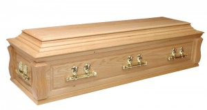 Coffins and Caskets Solid Oak Casket (Canterbury) Coffin